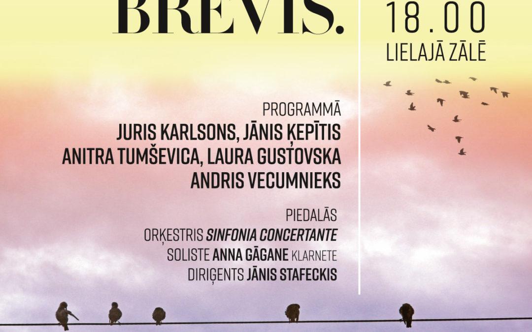 Koncerts LATVIJA. SINFONIA BREVIS. 30.11.2018 JVLMA Lielajā zālē