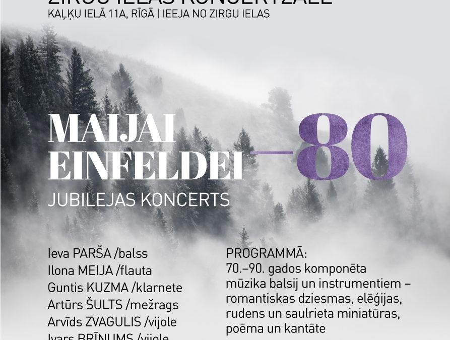 Maijas Einfeldes 80. jubilejas koncerts 05.01.2019.